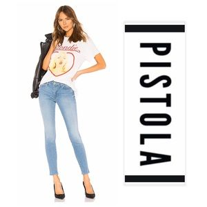 🆕PISTOLA Mid Rise Super Skinny Light Wash Jeans